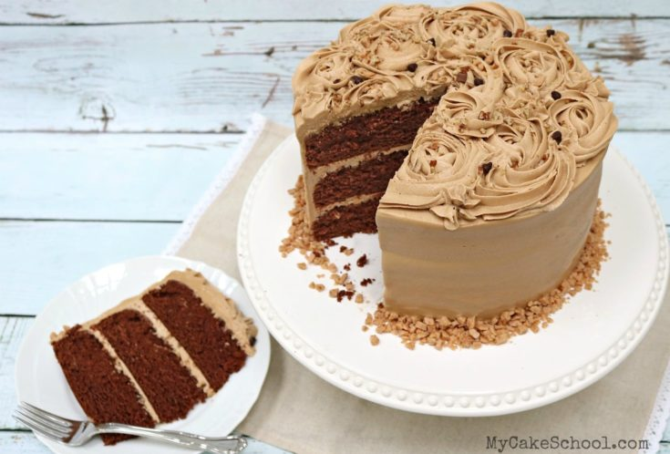Mocha Toffee Crunch Cake Recipe