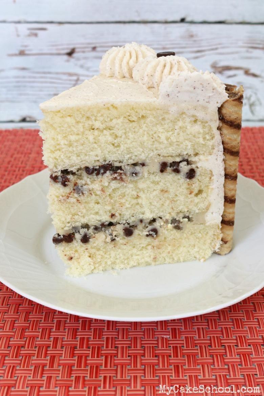 Slice of Cannoli Cake