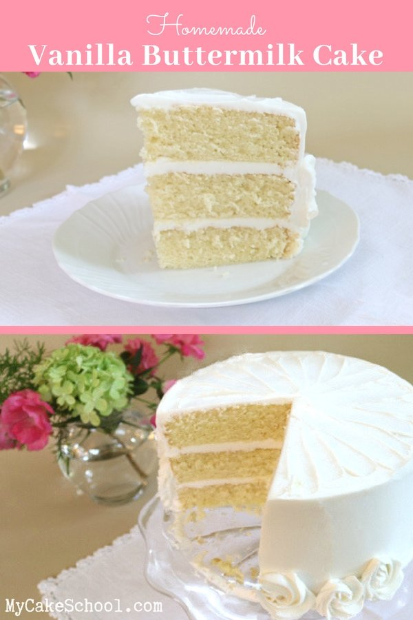Vanilla Buttermilk Cake Recipe by MyCakeSchool.com