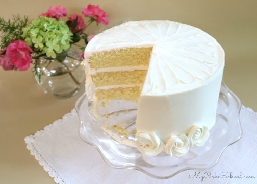 Scratch Vanilla Buttermilk Cake Recipe by MyCakeSchool.com