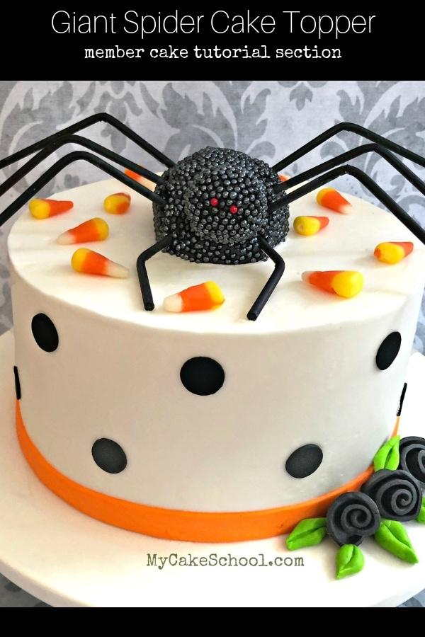 Giant Spider Cake Topper