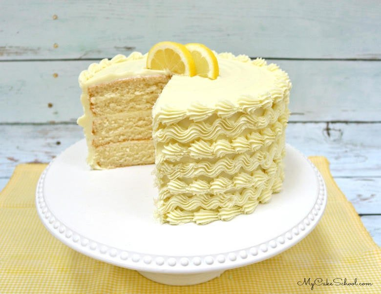 Moist and Delicious Lemon Cake Recipe from a doctored cake mix