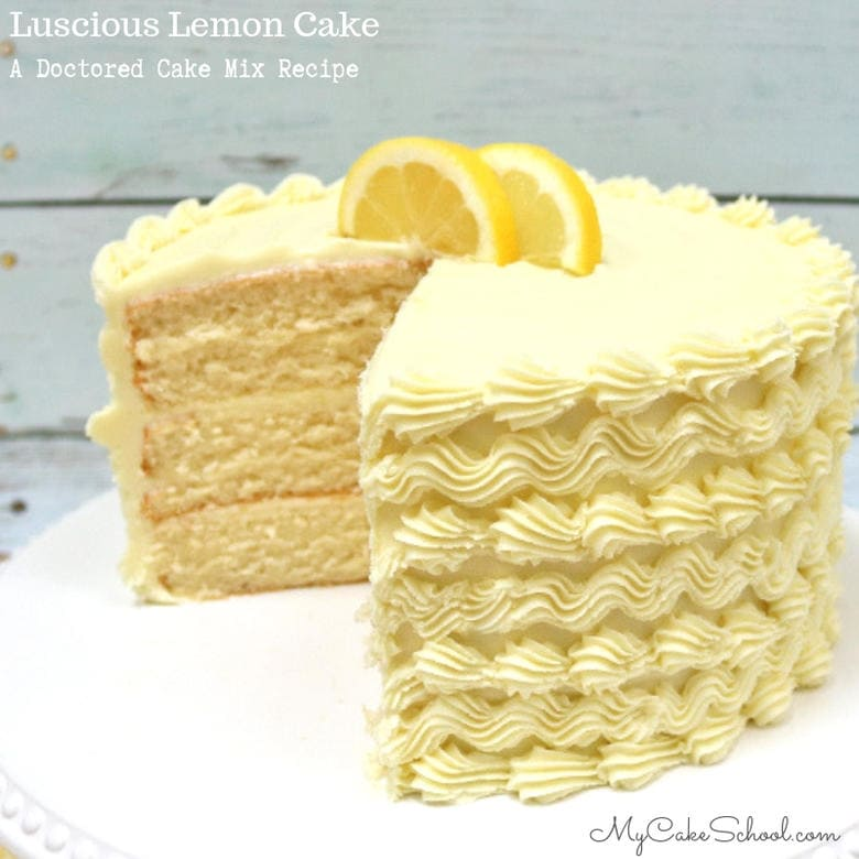 The BEST Lemon Cake: A Doctored Cake Mix Recipe