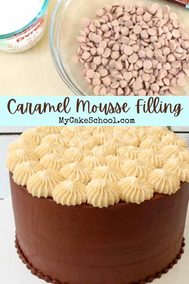 This delicious Caramel Mousse Filling is a favorite for caramel cakes and chocolate cakes!
