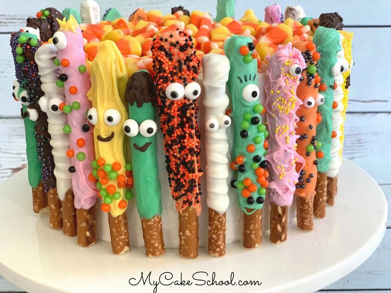 Pretzel Monster Cake