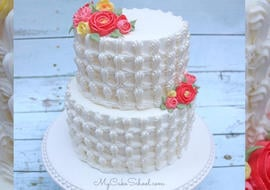 Beautiful Buttercream Trellis Piping