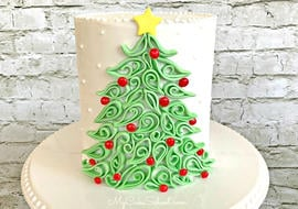 Elegant Quilled Christmas Tree Cake Tutorial