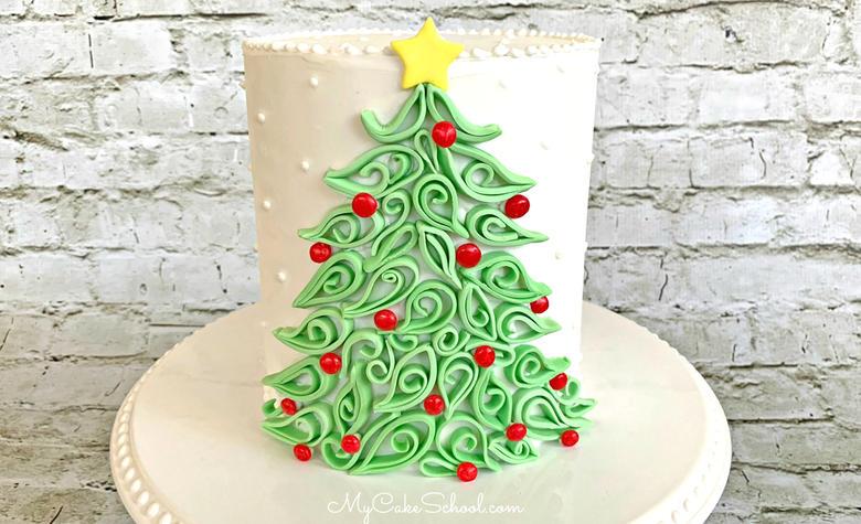 Elegant Quilled Christmas Tree Cake Tutorial