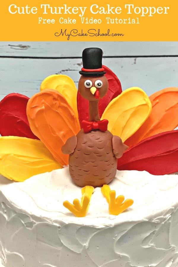 Cute Turkey Cake Topper Tutorial