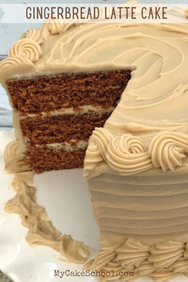 This Gingerbread Latte Cake recipe is the best! It has the perfect balance of gingerbread an espresso flavor!