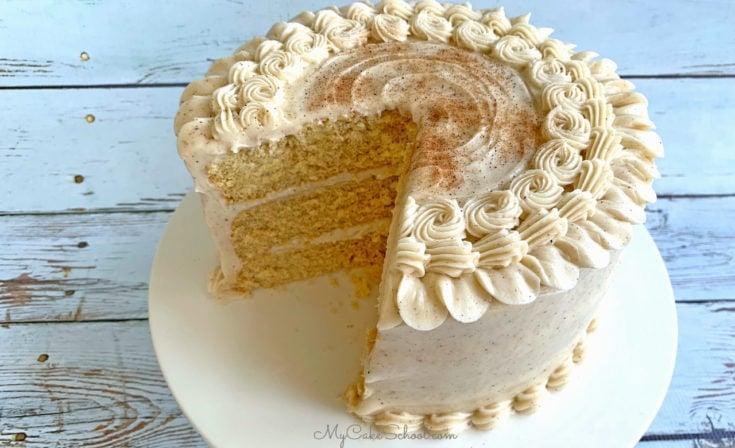 Eggnog Cake- A Doctored Cake Mix Recipe