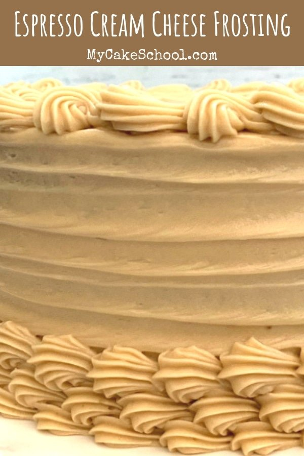 Espresso Cream Cheese Frosting Recipe by MyCakeSchool.com