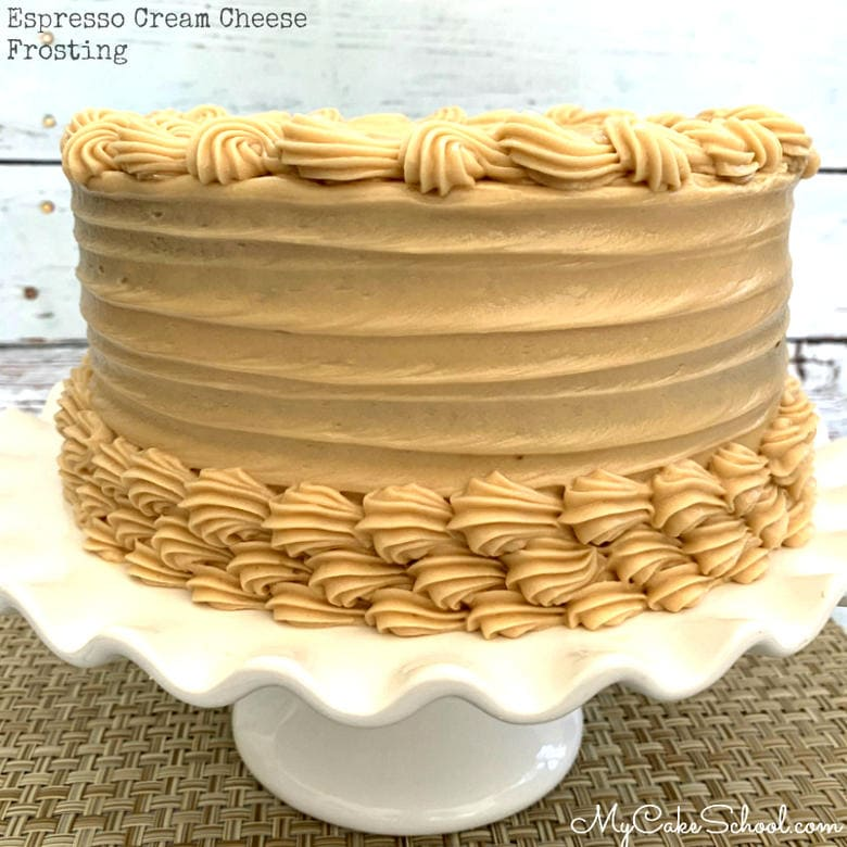 This Espresso Cream Cheese Frosting Recipe is SO easy and delicious!