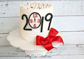 Happy New Year 2019! Free Cake Decorating Video Tutorial