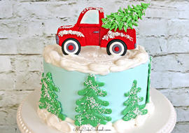 Learn to make a CUTE Red Truck Cake Topper in this free cake decorating video tutorial!