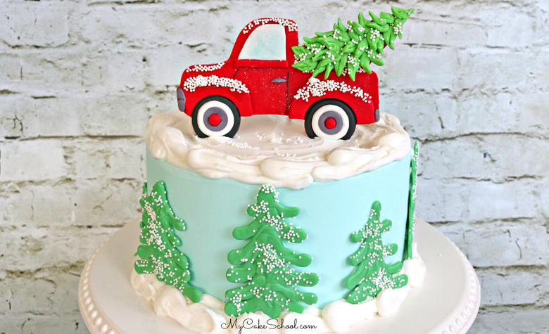 Red Truck Cake Topper- Video Tutorial