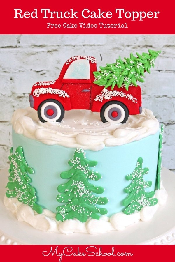 Learn how to make a CUTE Red Pickup Truck Cake Topper in this free cake decorating video tutorial by MyCakeSchool.com!