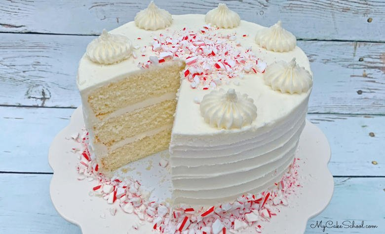 White Chocolate Peppermint Cake