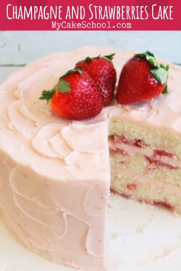 This Champagne and Strawberries cake recipe is the best! So moist and flavorful, and perfect for your special occasions!