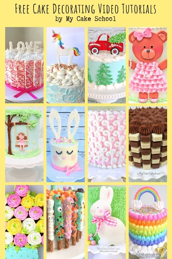 Free Cake Decorating Video Tutorials for all occasions by MyCakeSchool.com