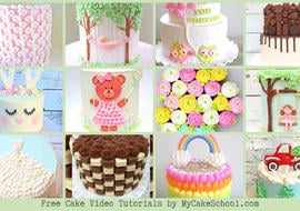 A Roundup of the BEST Free Cake Decorating Video Tutorials by MyCakeSchool.com