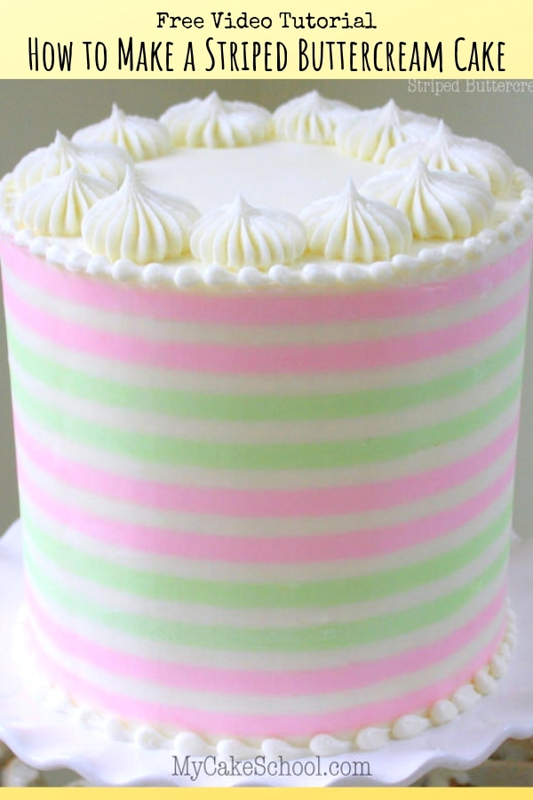 How to Make Perfect Buttercream Stripes on Cakes