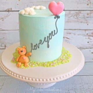 Adorable Bear and Balloon Cake- Free Cake Decorating Video Tutorial