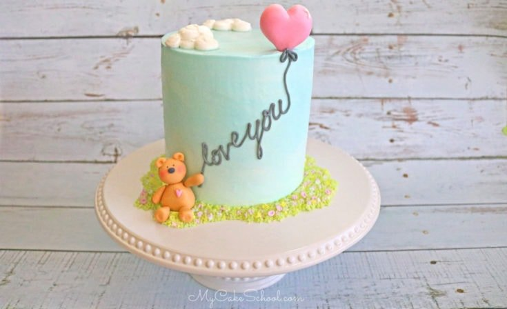 Teddy Bear and Balloon Cake- A Free Cake Decorating Video