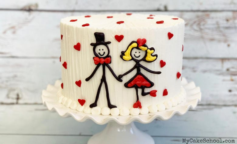 Sweet Stick Figure Couple- A free cake video tutorial