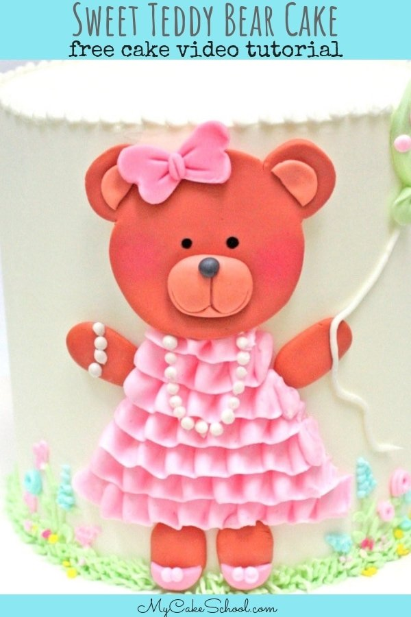 Sweet Teddy Bear Cake-Free Cake Video Tutorial by MyCakeSchool.com