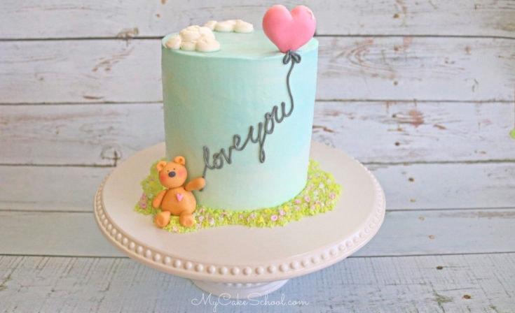 Teddy Bear and Balloon Cake