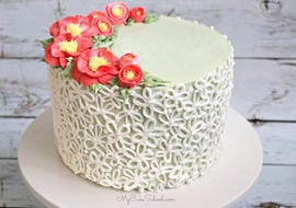 Buttercream Camellia Flower Piping- A Cake Decorating Video