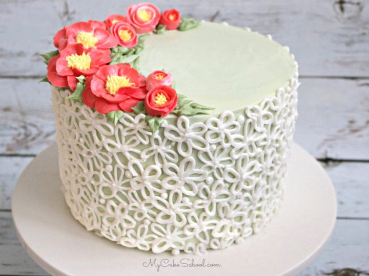 Magnificent Buttercream Camellias And Elegant Piping A Free Cake Video My Personalised Birthday Cards Akebfashionlily Jamesorg