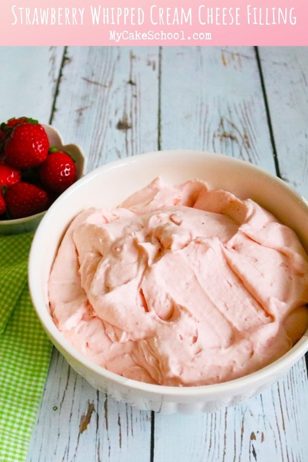 This Strawberry Whipped Cream Cheese Filling Recipe is so light and flavorful!