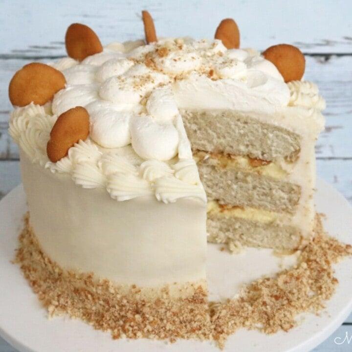 Brilliant Banana Pudding Cake Recipe My Cake School Personalised Birthday Cards Veneteletsinfo