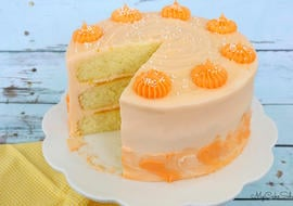 Delicious and Moist Lemon Orange Layer Cake