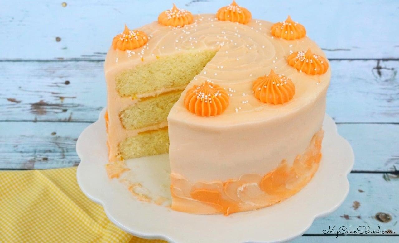 Delicious and Moist Lemon Orange Layer Cake