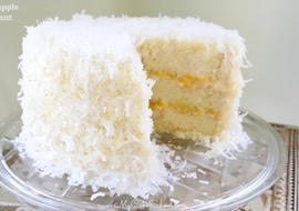 This Pineapple Coconut Layer Cake is moist and so moist and flavorful!