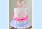 Flamingo Ruffle Cake Tutorial