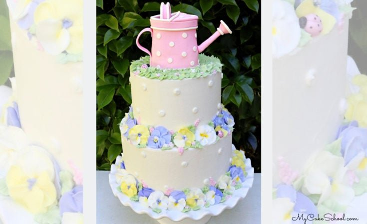 Pansy Garden Cake- A Cake Decorating Video