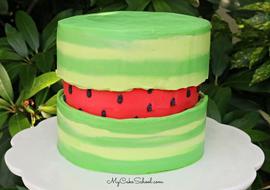 Watermelon Fault Line Cake
