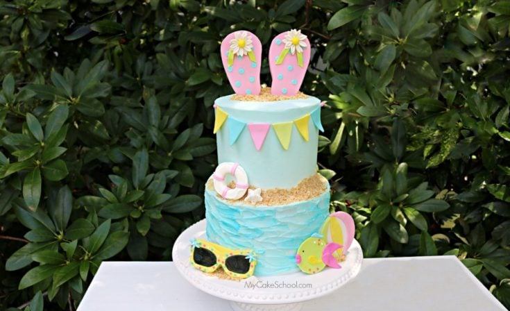Beach Cake Video Tutorial