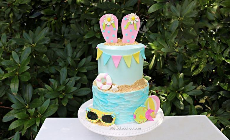 Beach Flip Flop Cake