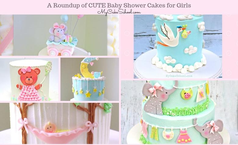 Cute Baby Shower Cakes for Girls