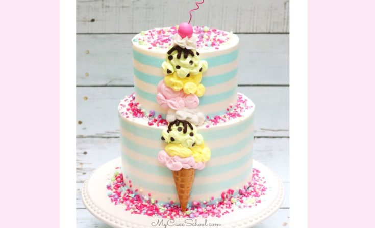 How to Make an Ice Cream Cone Cake