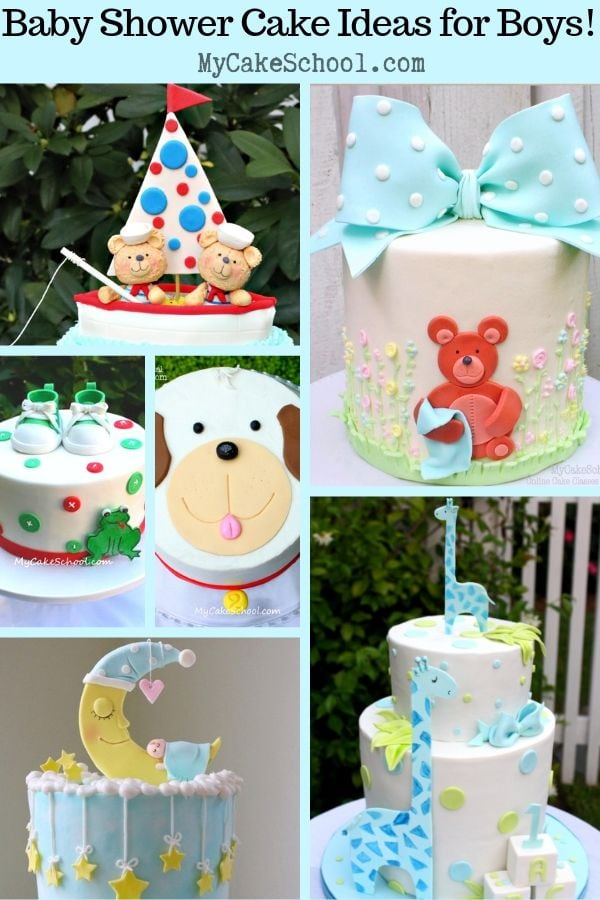 Baby Shower Cakes For Boys A Roundup Of Our Favorites My Cake School