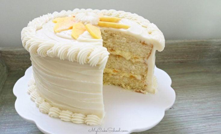 Moist Peaches and Cream Layer Cake Recipe