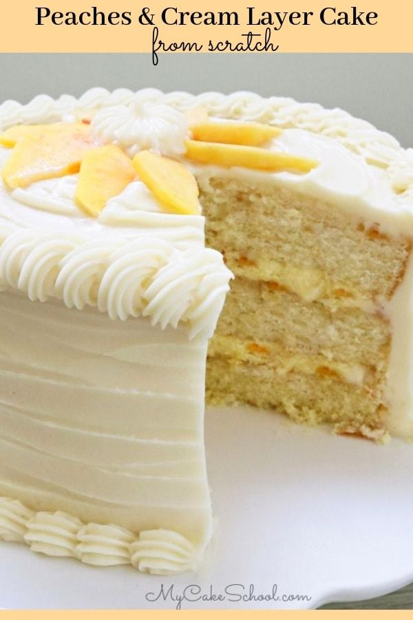 Peaches and Cream Layer Cake Recipe