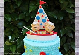 Sailboat and Teddy Bears Cake Tutorial