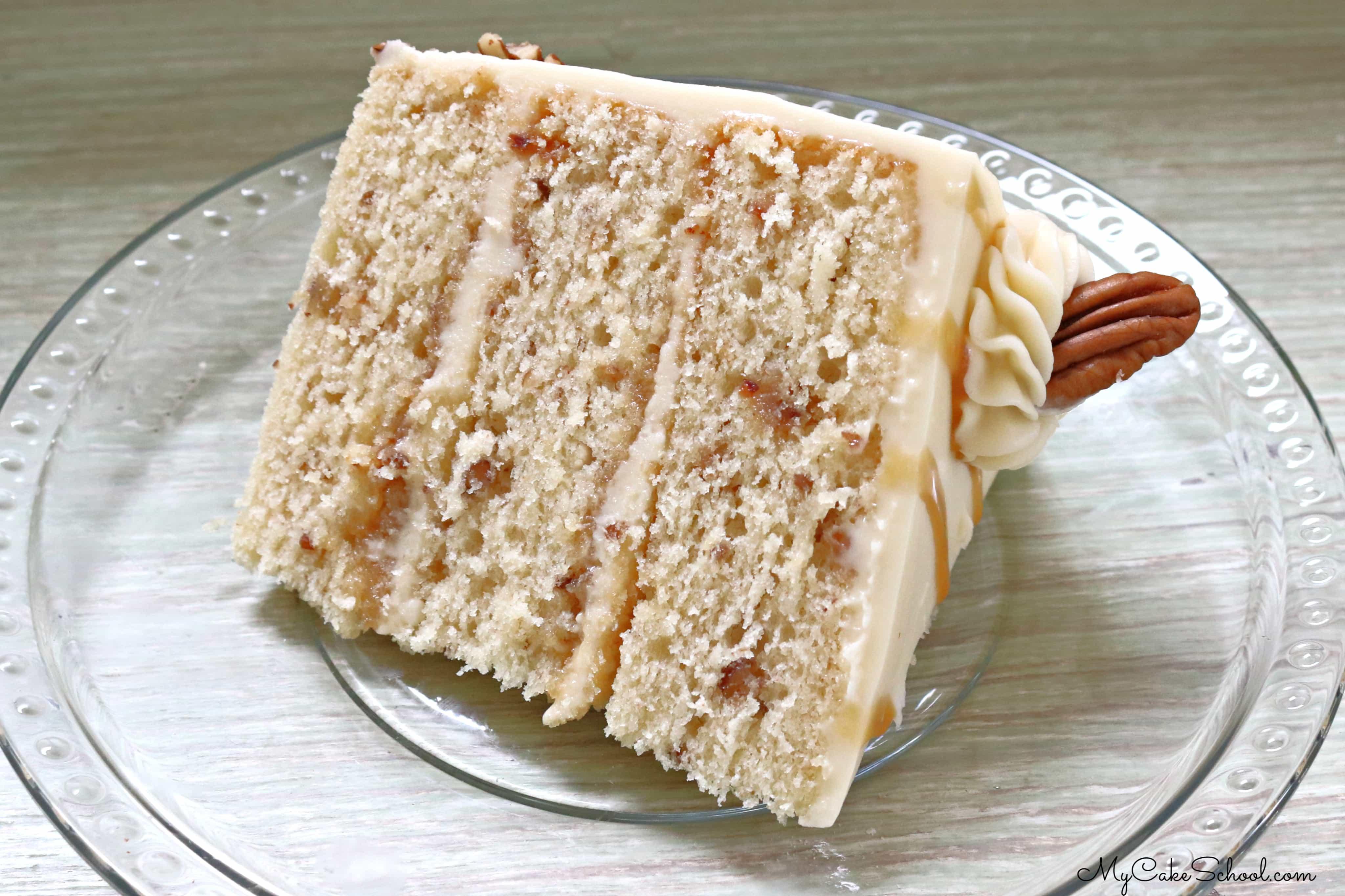 Toffee Pecan Caramel Cake Recipe